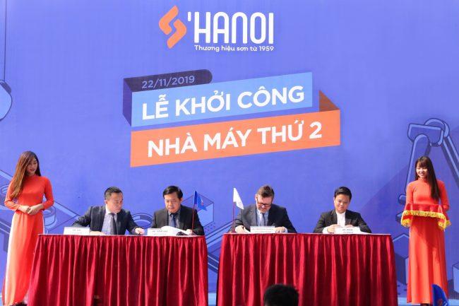 Sơn Hà Nội lựa chọn Hùng Vân là đơn vị tư vấn - cung cấp - lắp đặt nhà máy sản xuất sơn với công suất 50 triệu lít mỗi năm