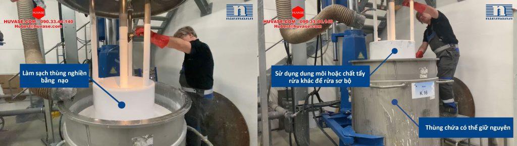 Công ty Hùng Vân hướng dẫn làm sạch rổ nghiền - máy nghiền rổ đúng cách tiết kiệm thời gian  và dung môi