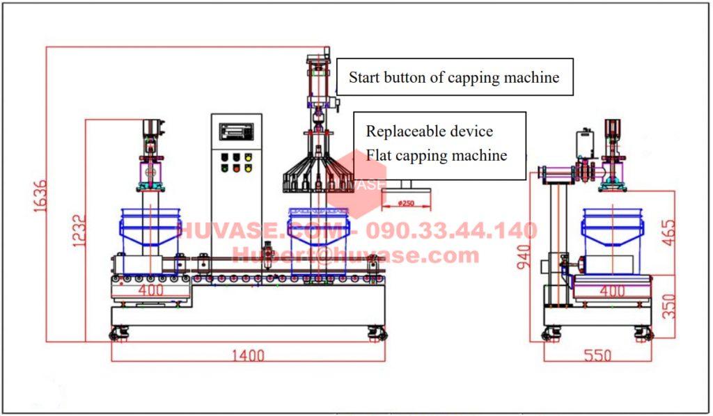Máy chiết rót, đóng gói chất lỏng chủ yếu được sử dụng trong các ngành công nghiệp như Sơn, Mực In, .... phù hợp cho việc đóng gói và đóng nắp tự động với nhiều dung tích khác nhau 1-5L, 10 - 20L, 50L, 100L, 200L,...