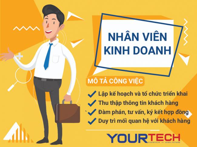 Yourtech tuyển dụng nhân viên kinh doanh