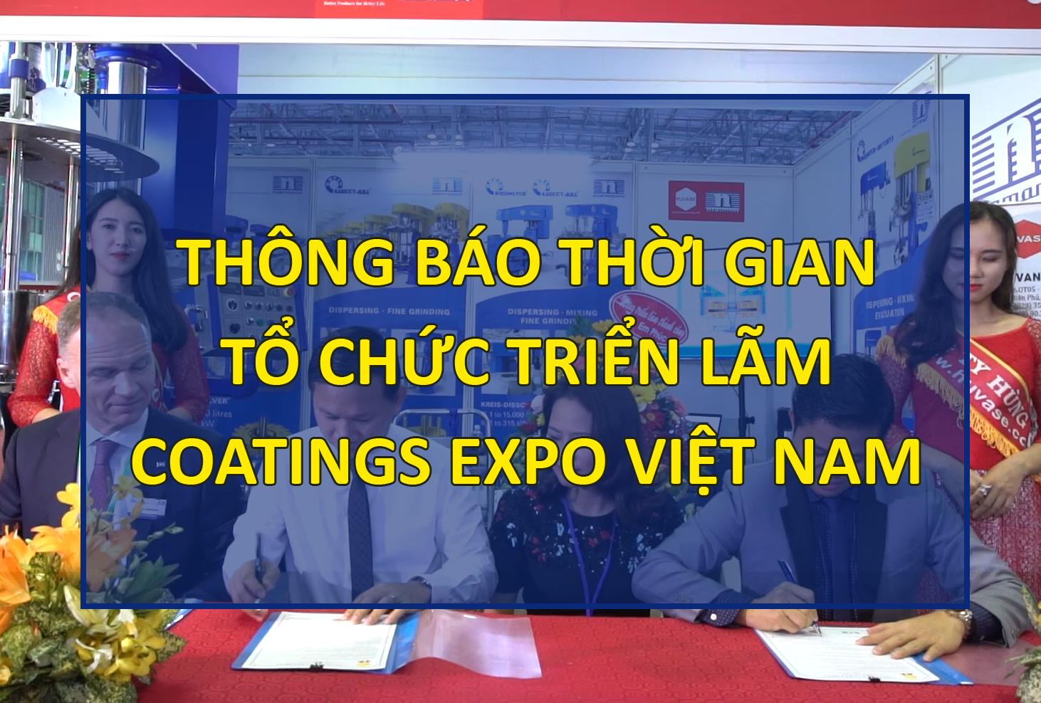 Thời gian tổ chức triển lãm Coatings Expo Vietnam 2020