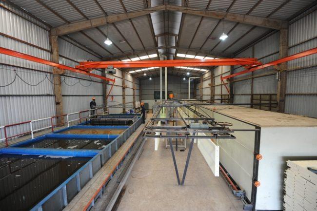 Mô hình các bể xử lý bề mặt phun sơn tĩnh điện